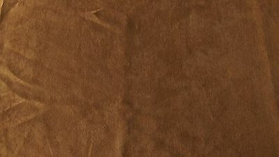 Caramel Colour Satin Back Faux Suede/Suedette Medium Weight Dressmaking Fabric