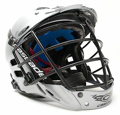 Cascade CLH2 Men Lacrosse LAX Safety Cage Adjustable Padded Helmet Small Gray