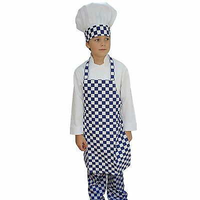 Kids Apron And Hat Sets For Children's Cooking & Schools