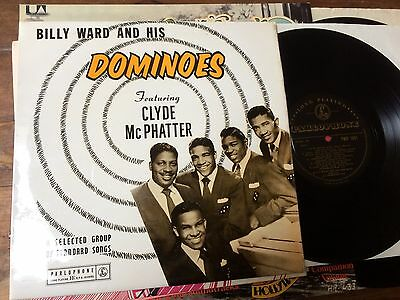 """V RARE 1958 R&B 10"""" vinyl LP BILLY WARD AND HIS DOMINOES feat. CLYDE McPHATTER"""