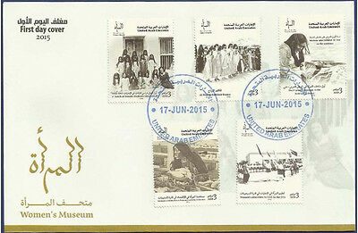 Uae 2015 Mnh Fdc First Day Cover Women´s Museum Student Dance