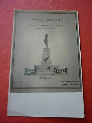40 Saint Julien En Born Rare Carte Photo Des Plans Du Monument Commemoratif N° 2