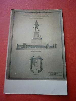 40 Saint Julien En Born Rare Carte Photo Des Plans Du Monument Commemoratif