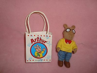 "Arthur In Gift Bag Mini 5"" 1997 Eden pvc flocked jointed figure"