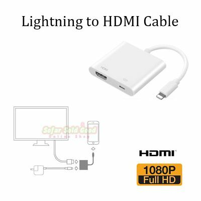 New Lightning To HDMI TV AV Cable Adapter For Apple iPad iPhone 6 6s 7 Plus