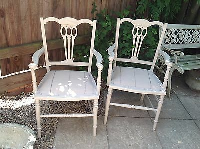 Pair of Edwardian Parlour Chairs. Courier available
