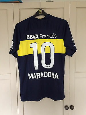 2016-2017 Boca Juniors MARADONA Home football shirt jersey argentina napoli (L)