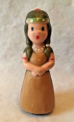 Vintage Gurley Thanksgiving Girl Indian Maiden Wax Candle Unused