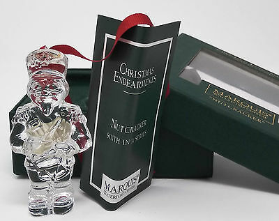MARQUIS WATERFORD CRYSTAL Nutcracker Christmas Ornament NEW Sixth in a Series