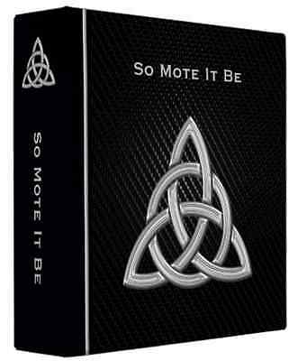 """Triquetra Book of Shadows 3 Ring Binder So Mote It Be 10"""" x 11.75"""" x 2.8""""spine"""