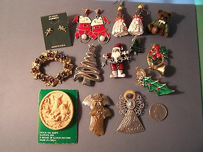 From Vintage to Now Christmas jewelry collection 13 pieces