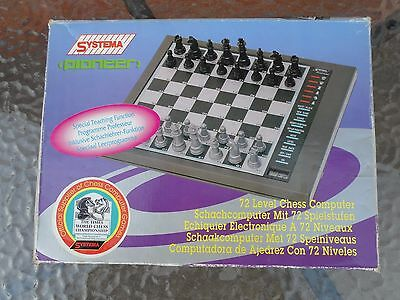 Systema Pioneer Electronic Computer Game Chess Board Game - Complete - Vgc
