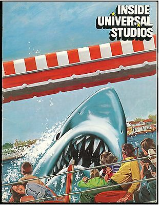 1976 INSIDE UNIVERSAL STUDIOS, Jaws Cover, Full Color Booklet, Nice Shape