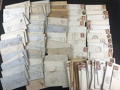 WILMINGTON DE 114 Stampless Folded SFL Old Stamps Antique Letter Lot Collection