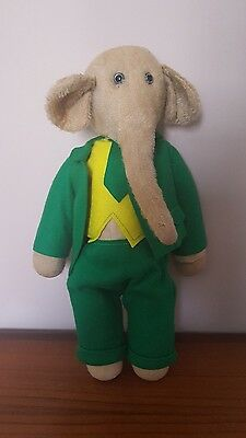 Rare Early Vintage Babar the Elephant Straw Filled Stuffed Teddy
