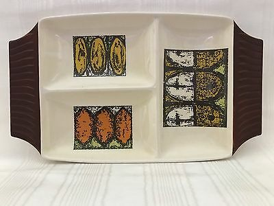 Vintage Crown Devon Fieldings England 3 Sectioned Large Snack Tray