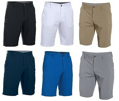 Under Armour Match Play Mens Golf Shorts White/Grey - Pick a Size