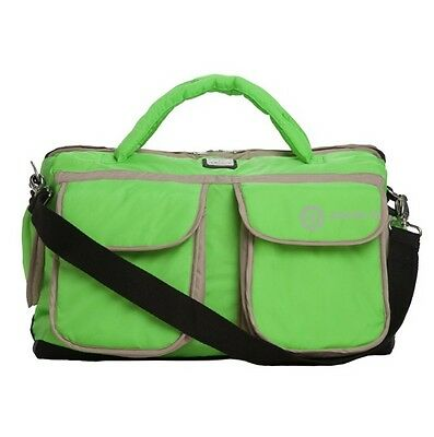7AM Enfant Voyage Paris Bag, Neon Green, Large, Diaper Bag, Baby NEW - MSRP $109