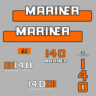 1 kit stickers MARINER 140 cv serie 4 ref.2 hors bord bateau autocollant decals