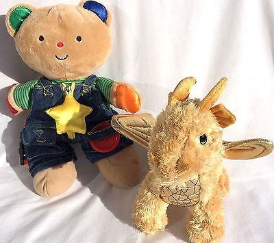 Melissa Doug Stuffed Animals Gold Luster Dragon Teddy Wear Toddler Activity Toys