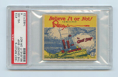 1937 Ripley's Believe It Or Not card #13 Ghost Ship - R21 - PSA