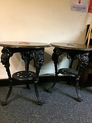Vintage Black Britannia Cast Iron Tables - Suit Pub Hotel Restaurant Cafe - Used