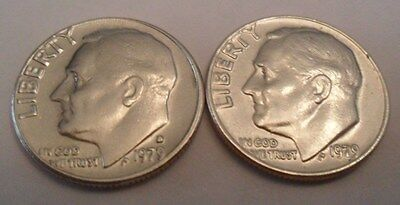 1979 P & D Roosevelt Dime Set (2 Coins)   **FREE SHIPPING**