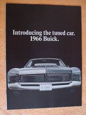 1966 Buick Large Brochure - The Tuned Car