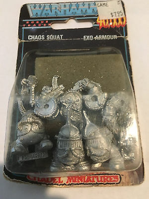 Citadel Rogue Trader Warhammer Oldhammer 40k Chaos Squat Exo Armor unopened