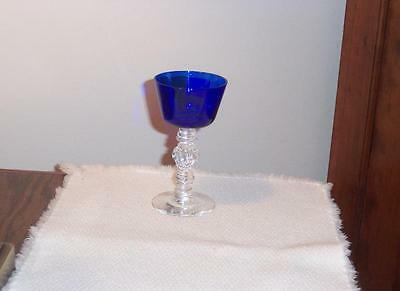 Heisey #3404 Spanish Cobalt 3 1/2 Ounce. Cocktail With Buy It Now