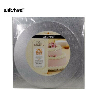 Set of 2 WILTSHIRE Cake Board Art of Baking Wooden Approved Food Grade Reusable