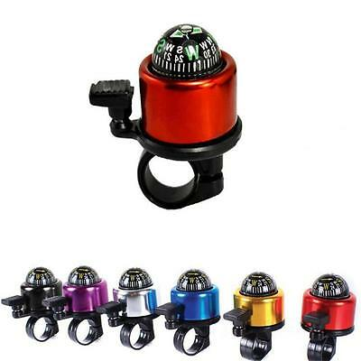 2in1 Mountain MTB Bike Compass Ring Handlebar Bell Horn Aluminum Bicycle W!