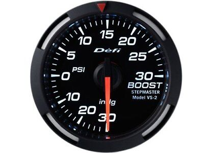 Defi White Racer Boost Gauge Imperial 52mm 30 PSI  DEFI