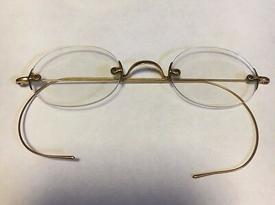Antique 14k SOLID GOLD SPECTACLES EYE GLASSES Victorian Steampunk Optical NY