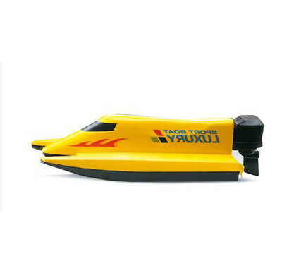 Yellow Length 14CM Remote Control Boat Simulation Racing Boat Model Gift Toys #