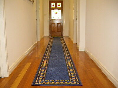 Hallway Runner Hall Runner Rug Modern Blue 4 Metres Long FREE DELIVERY 73645