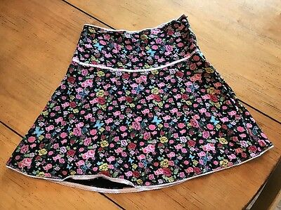H&M Children's Girl Rayon Floral Summer Lined Skirt Sz 10 EUC