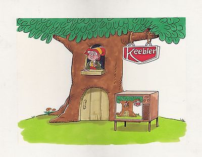 Keebler Elves watercolor storyboard original illustration
