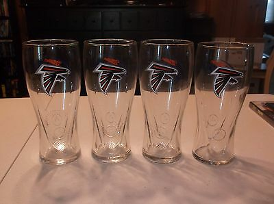 Atlanta Falcons Miller Lite Beer Glass Lot Of 4 New Item