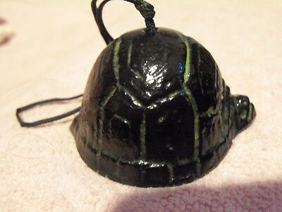 "2 3/4"" Black Metal Turtle Bell - Made In Japan - Lot #64"