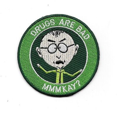 "South Park TV Series Mr. Mackey Drugs Are Bad 3"" Premium Quality Patch"