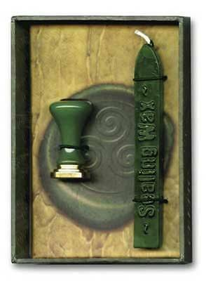Green Celtic Sealing Wax Boxed kit (3 1/8 x 4 1/2) Includes Metal Seal