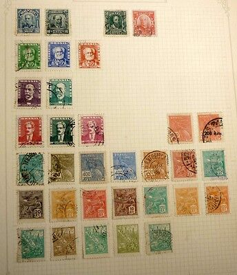 Group Lot Of Old Stamps, 30 Different, Brazil, All Used