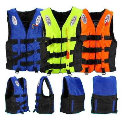 Polyester Adult Life Jacket Universal Swimming Drifting Ski Vest + Whistle