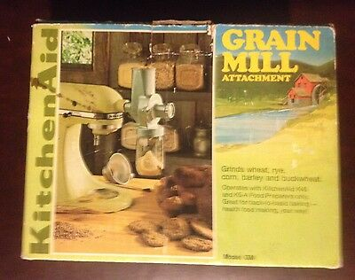 Kitchenaid Hobart Metal Grain Mill Attachment Gm For Stand Models K45 K5A In Box