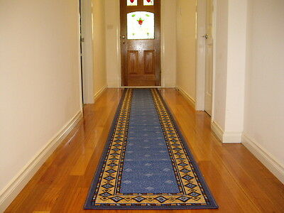 Hallway Runner Hall Runner Rug Modern Blue 4 Metres Long FREE DELIVERY 14645