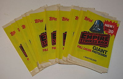 1980 Topps Star Wars Giant Photocards Wrapper Lot Of 40 - Combined Shipping