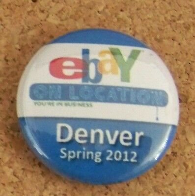 eBay on Location EOL Denver Spring 2012 blue color small button