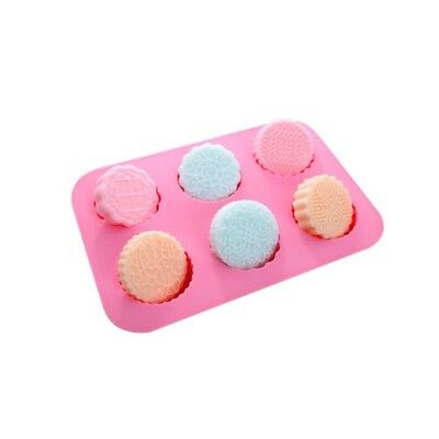 Hot 6-Cavity Silicone Flower Rose Chocolate Soap Mold Ice Baking Cake Tray Mould