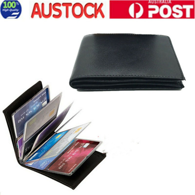 Amazing Slim RFID Blocking Wallet Case Black Leather Protection 24 Cards